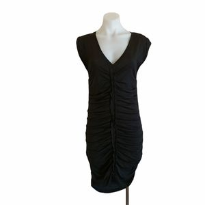 Country Road Size XS Black Ruched Bodycon Dress Cocktail